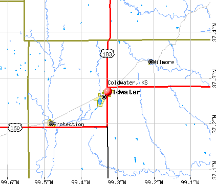 Coldwater, KS map