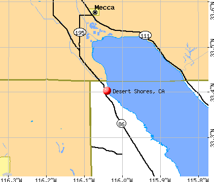 Desert Shores, CA map