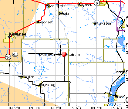 Bradford, IL map