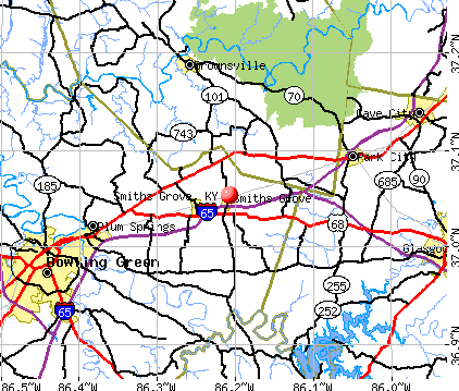 Smiths Grove, KY map