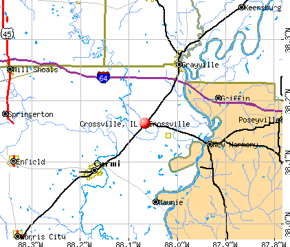 Crossville, IL map
