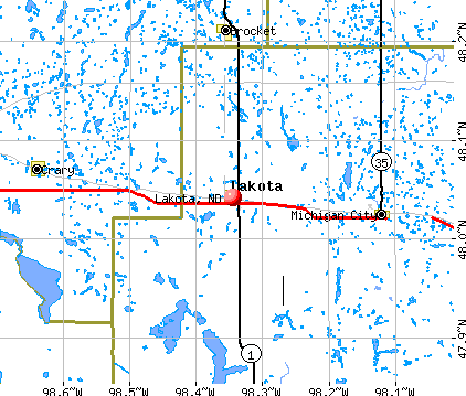 Lakota, ND map