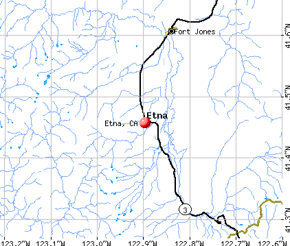 Etna, CA map