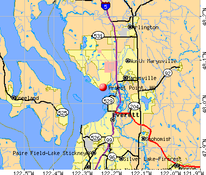 Priest Point, WA map