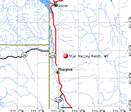 Star Valley Ranch, WY map
