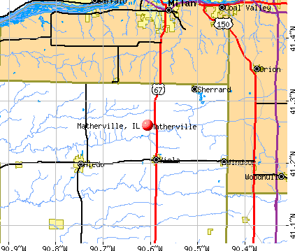Matherville, IL map
