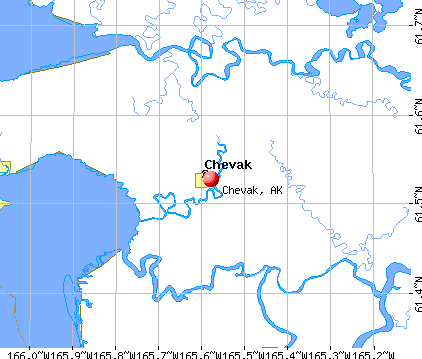 Chevak, AK map
