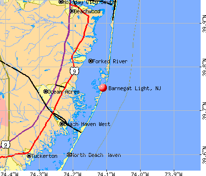 Barnegat Light, NJ map