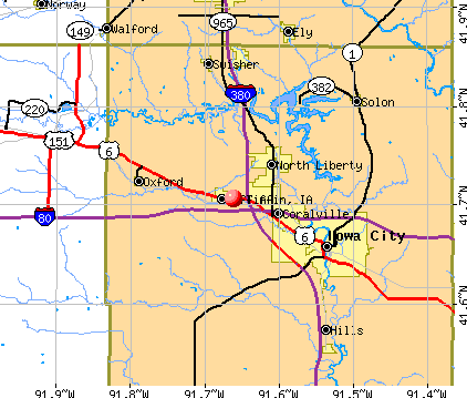 Tiffin, IA map