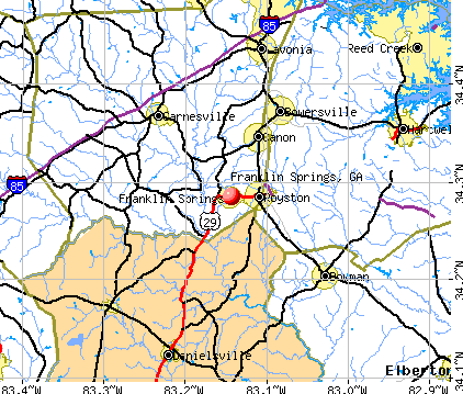 Franklin Springs, GA map