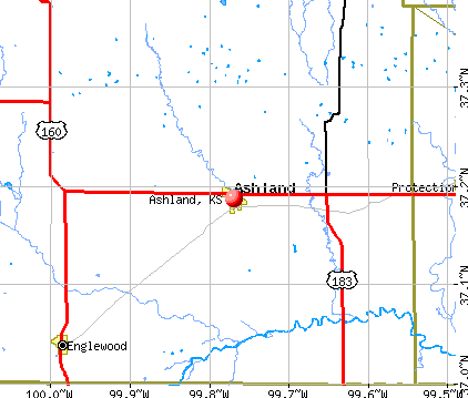 Ashland, KS map