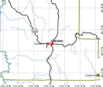 Condon, OR map