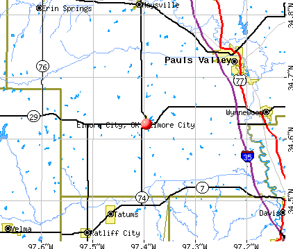 Elmore City, OK map
