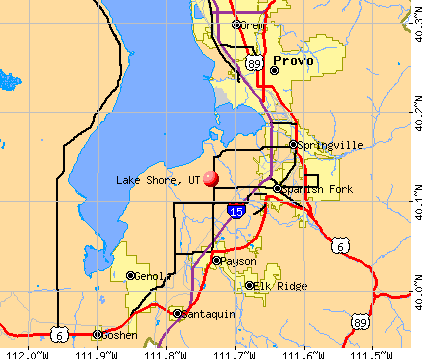 Lake Shore, UT map