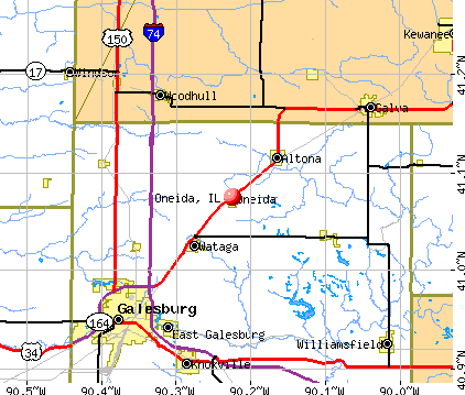 Oneida, IL map