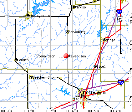 Stewardson, IL map