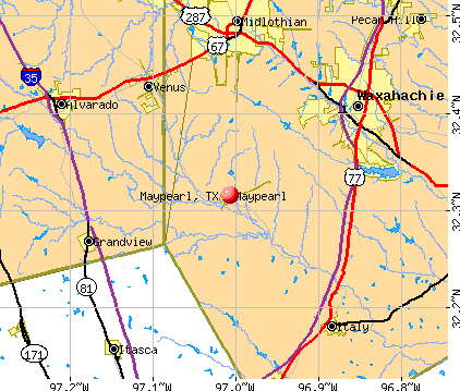 Maypearl, TX map