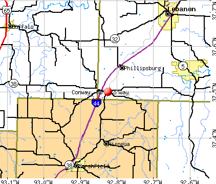 Conway, MO map
