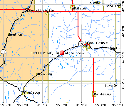 Battle Creek, IA map