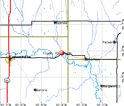 Clyde, KS map