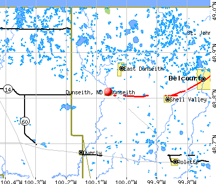 Dunseith, ND map