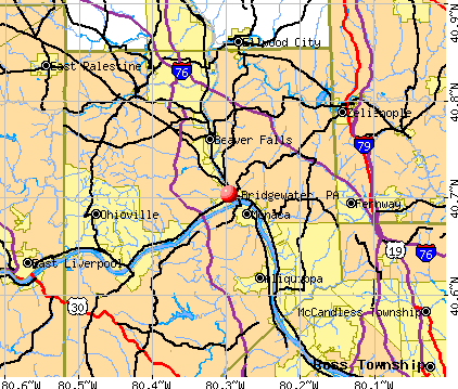 Bridgewater, PA map