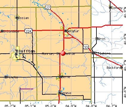 Monroe, IN map