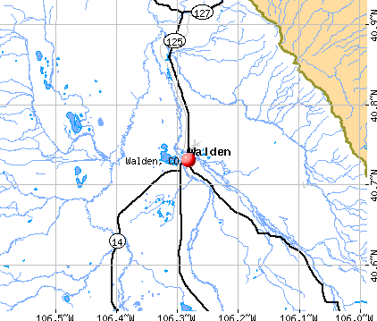 Walden, CO map