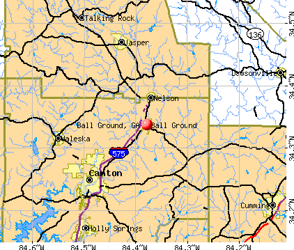 Ball Ground, GA map
