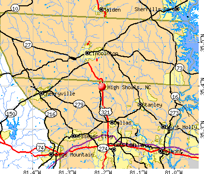 High Shoals, NC map
