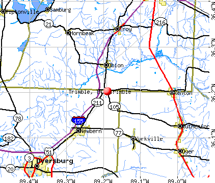 Trimble, TN map