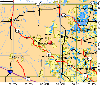 Bull Valley, IL map