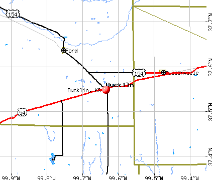 Bucklin, KS map