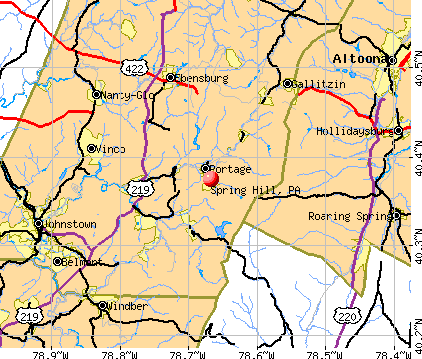 Spring Hill, PA map