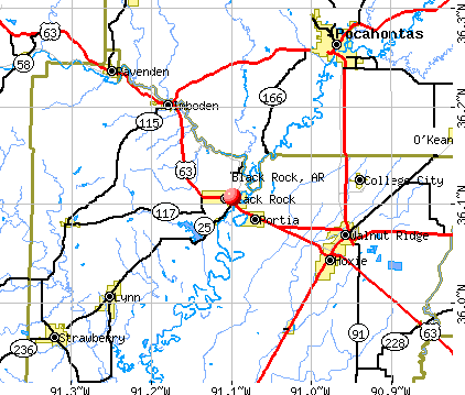 Black Rock, AR map