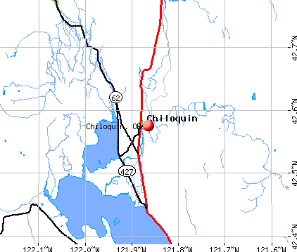 Chiloquin, OR map