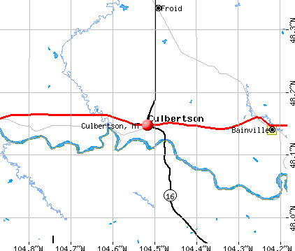 Culbertson, MT map