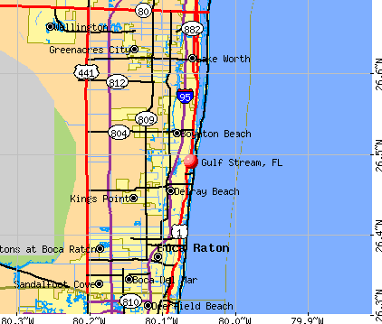 Gulf Stream, FL map