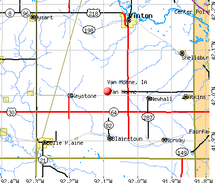 Van Horne, IA map