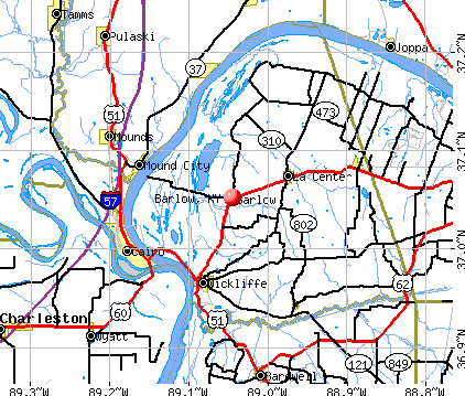 Barlow, KY map