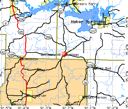 Quitman, AR map