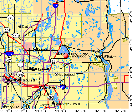 Birchwood Village, MN map