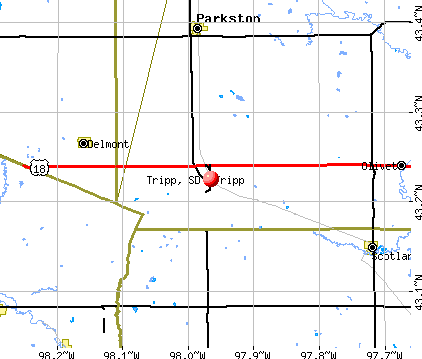 Tripp, SD map