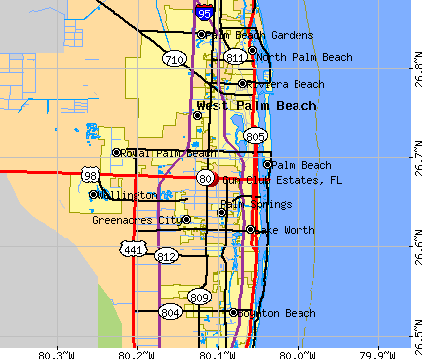 Gun Club Estates, FL map