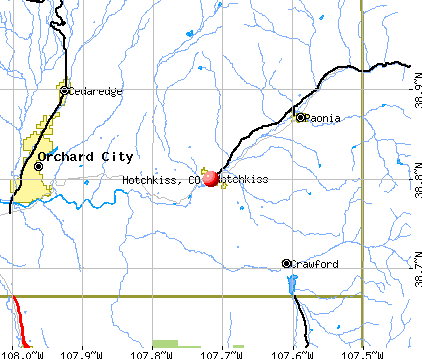 Hotchkiss, CO map