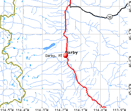 Darby, MT map