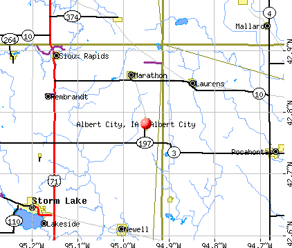 Albert City, IA map