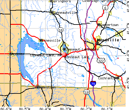 Conneaut Lake, PA map