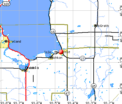 Isle, MN map
