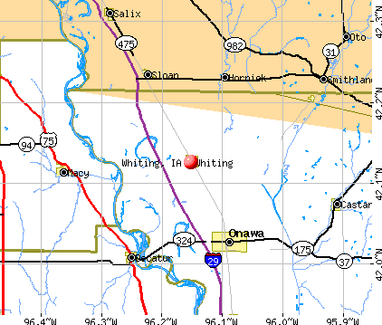 Whiting, IA map